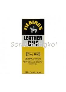 Fiebing's Navy blue Leather Dye - 4 oz