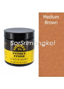4 OZ FIEBING'S ANTIQUE FINISH - MED BROWN